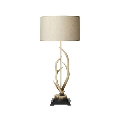 Antler Bleached Table Lamp complete with S051 Shade, ANT4215 (7-10 day Delivery)